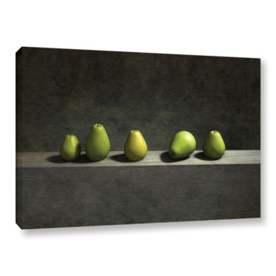 Brushstone Five Pears Gallery Wrapped Canvas WallArt