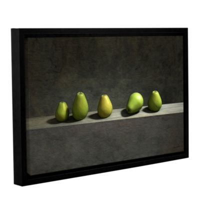 Brushstone Five Pears Gallery Wrapped Floater-Framed Canvas Wall Art