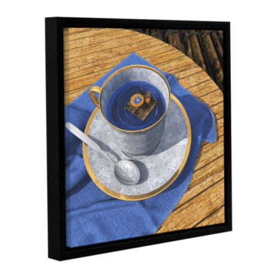 Brushstone Infinitea Gallery Wrapped Floater-Framed Canvas Wall Art