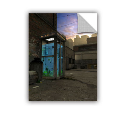 Brushstone Phone Booth Removable Wall Decal