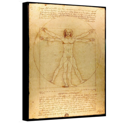 Brushstone Vitruvian Man Gallery Wrapped Canvas Wall Art