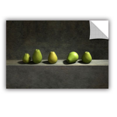 Brushstone Five Pears Removable Wall Decal