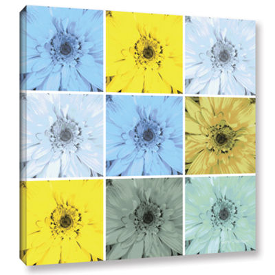 Brushstone Flower Collage Gallery Wrapped Canvas Wall Art