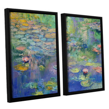 Brushstone Water 2-pc. Floater Framed Canvas WallArt