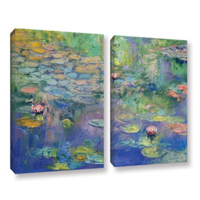 Brushstone Water 2-pc. Gallery Wrapped Canvas WallArt