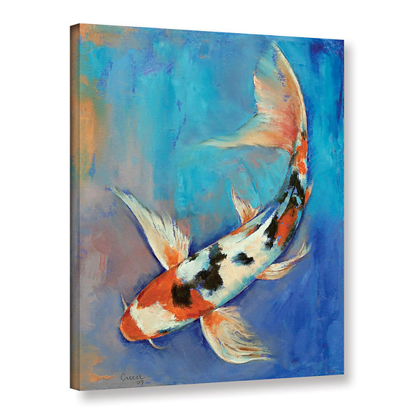 Brushstone Sanke Butterfly Koi Gallery Wrapped Canvas Wall Art