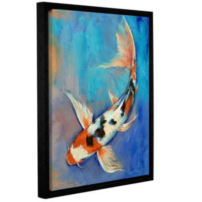 Brushstone Sanke Butterfly Koi Gallery Wrapped Floater-Framed Canvas Wall Art