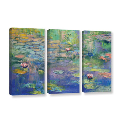 Brushstone Water 3-pc. Gallery Wrapped Canvas WallArt