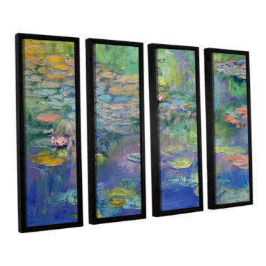 Brushstone Water 4-pc. Floater Framed Canvas WallArt