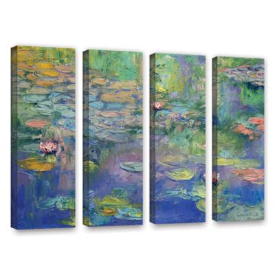 Brushstone Water 4-pc. Gallery Wrapped Canvas WallArt