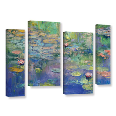 Brushstone Water 4-pc. Gallery Wrapped Staggered Canvas Wall Art