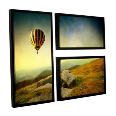 Brushstone Keys to Imagination III 3-pc. Flag Floater Framed Canvas Wall Art