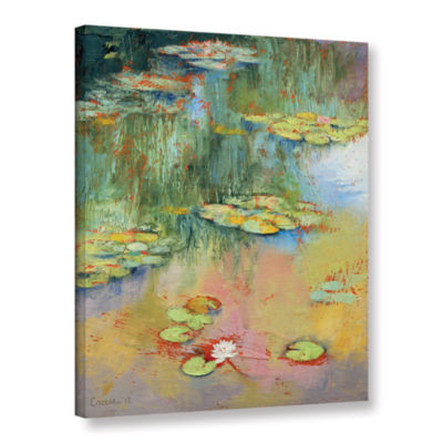 Brushstone Water Lily Gallery Wrapped Canvas WallArt