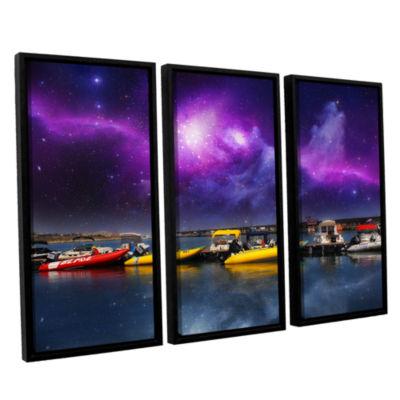 Brushstone Gateway 3-pc. Floater Framed Canvas Wall Art