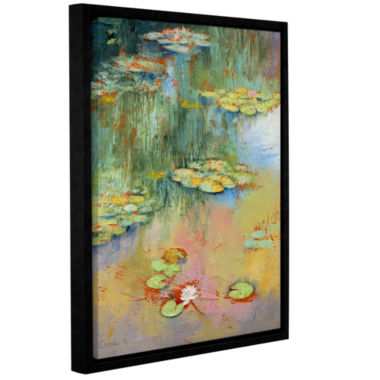 Brushstone Water Lily Gallery Wrapped Floater-Framed Canvas Wall Art