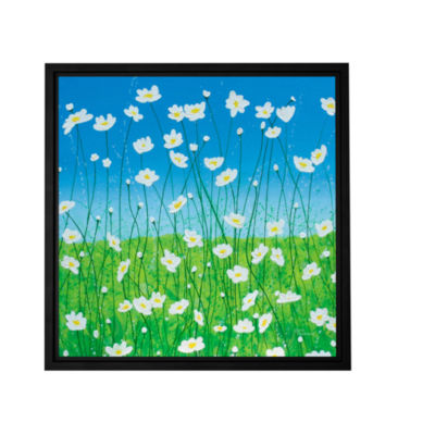 Brushstone Jesses Daises Gallery Wrapped Floater-Framed Canvas Wall Art