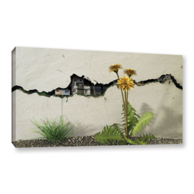 Brushstone Between the Cracks Gallery Wrapped Canvas Wall Art