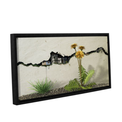 Brushstone Between the Cracks Gallery Wrapped Floater-Framed Canvas Wall Art