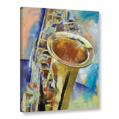 Brushstone Saxophone Gallery Wrapped Canvas Wall Art