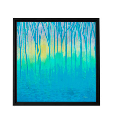 Brushstone Lagoons Edge Gallery Wrapped Floater-Framed Canvas Wall Art