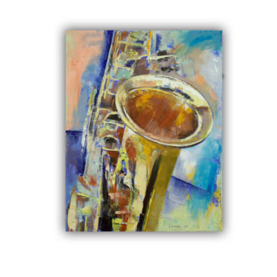 Brushstone Saxophone Removable Wall Decal