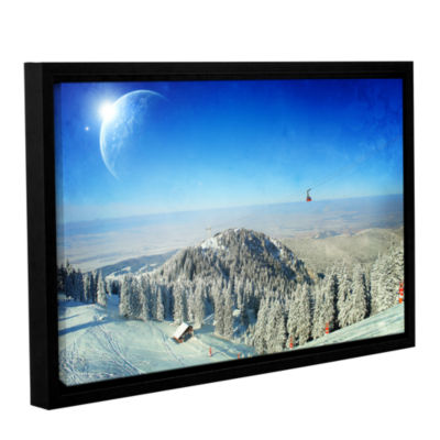 Brushstone Between Worlds V1 Gallery Wrapped Floater-Framed Canvas Wall Art