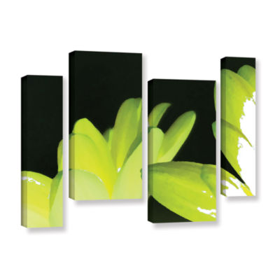 Brushstone Gerber Time I 4-pc. Gallery Wrapped Staggered Canvas Wall Art