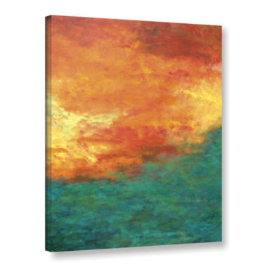 Brushstone Lake Reflections Gallery Wrapped CanvasWall Art