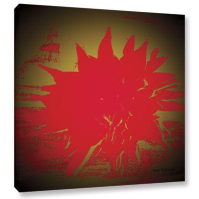 Brushstone Scarlet Splash Gallery Wrapped Canvas Wall Art
