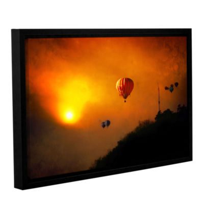 Brushstone Sunset Expedition Gallery Wrapped Floater-Framed Canvas Wall Art