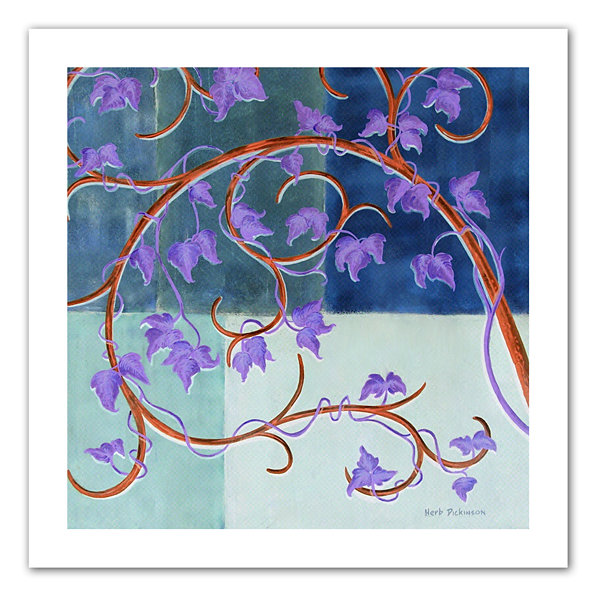 Brushstone Blue Gate Canvas Wall Art