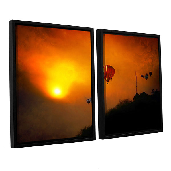 Brushstone Sunset Expedition 2-pc. Floater FramedCanvas Wall Art