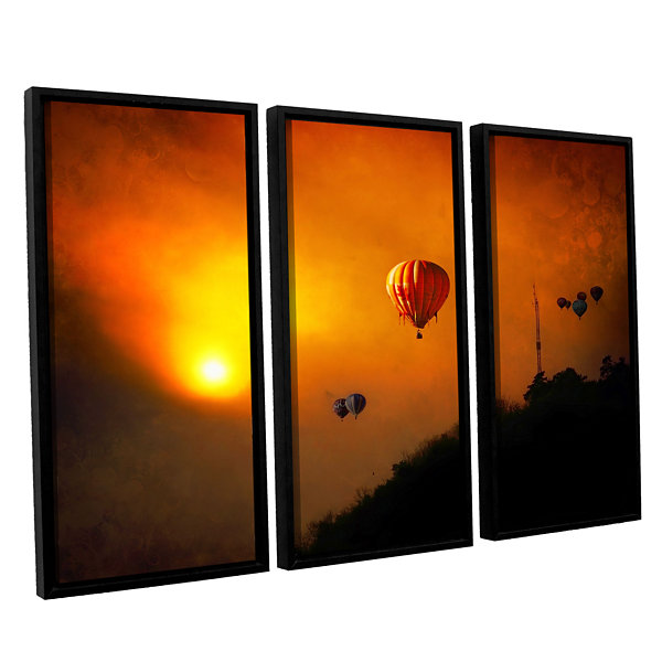 Brushstone Sunset Expedition 3-pc. Floater FramedCanvas Wall Art