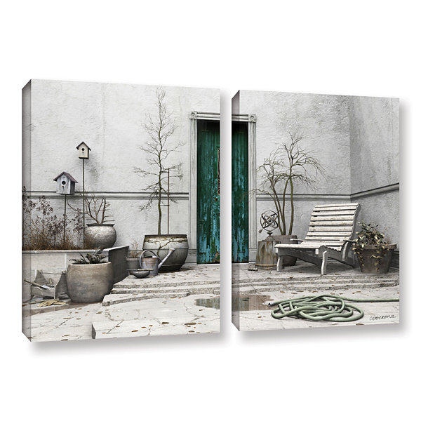 Brushstone Winter Garden 2-pc. Gallery Wrapped Canvas Wall Art