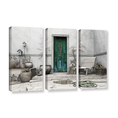Brushstone Winter Garden 3-pc. Gallery Wrapped Canvas Wall Art