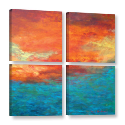 Brushstone Lake Reflections II 4-pc. Square Gallery Wrapped Canvas