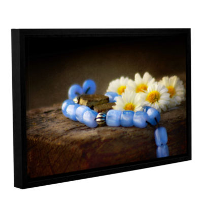 Brushstone Blue Marbles Gallery Wrapped Floater-Framed Canvas Wall Art