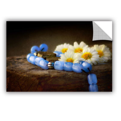 Brushstone Blue Marbles Removable Wall Decal