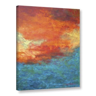 Brushstone Lake Reflections II Gallery Wrapped Canvas Wall Art