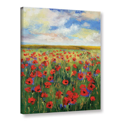 Brushstone Poppies Gallery Wrapped Canvas Wall Art