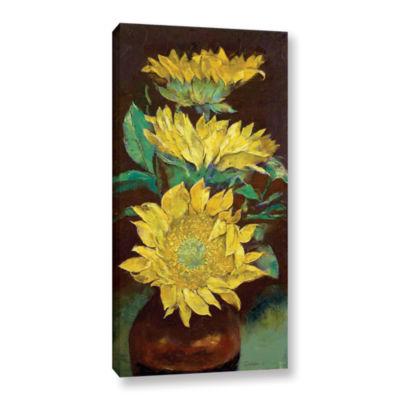 Brushstone Sunflowers Gallery Wrapped Canvas WallArt