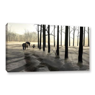 Brushstone Winter Walk Gallery Wrapped Canvas WallArt