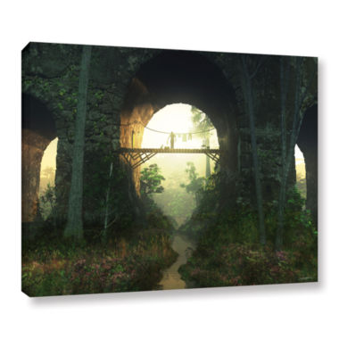 Brushstone Bridge Under The Bridge Gallery WrappedCanvas Wall Art