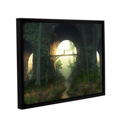 Brushstone Bridge Under The Bridge Gallery WrappedFloater-Framed Canvas Wall Art