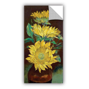 Brushstone Sunflowers Removable Wall Decal