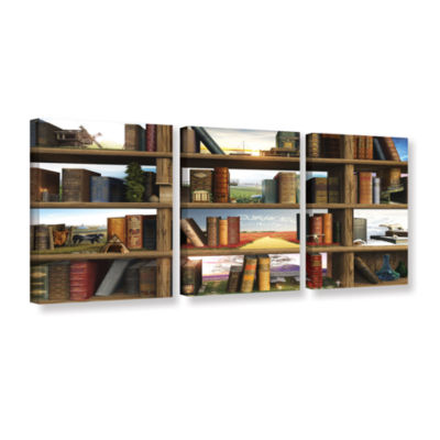 Brushstone Story World 3-pc. Gallery Wrapped Canvas Wall Art