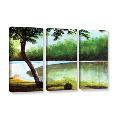 Brushstone Carol's Retreat 3-pc. Gallery Wrapped Canvas Wall Art