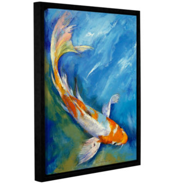 Brushstone Yamato Nishiki Koi Gallery Wrapped Floater-Framed Canvas Wall Art
