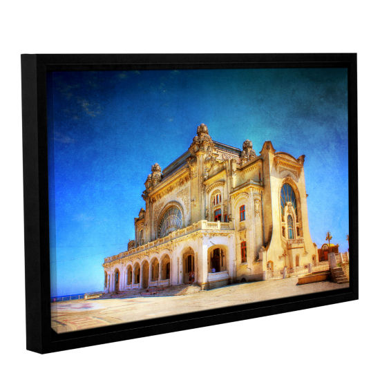 Brushstone Casino in Ruins Gallery Wrapped Floater-Framed Canvas Wall Art