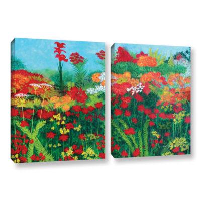 Brushstone Cheryl's Garden 2-pc. Gallery Wrapped Canvas Wall Art